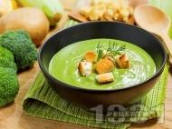 Рецепта Крем супа от грах и броколи